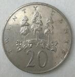 monedas de America - Jamaica -  1987 - 20 cents