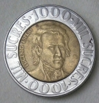 monedas de America - Ecuador -  1996 -1000 sucres