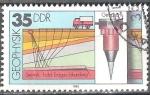 Stamps of the world : Germany :  Geofísica, Gravimetría, Gravímetro (DDR).