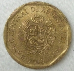 monedas de America - Perú -  2013 - 10 centimos
