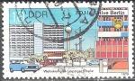 Sellos de Europa - Alemania -  Iniciativa FDJ Berlín, complejo residencial Calle Leipziger(DDR).