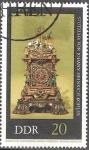 Sellos de Europa - Alemania -  Relojes antiguos.-Reloj ornamental de Johann Heinrich Köhler,1720(DDR).