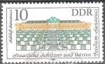 Stamps of the world : Germany :  Palacios y Jardines Públicos de Potsdam-Palacio Sanssouci-DDR.