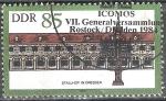 sellos de Europa - Alemania -  VII.Asamblea Gral de la Sociedad Intl para la Preservación Histórica (ICOMOS), Rostock y Dresden.
