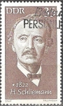"""Stamps of the world : Germany :  """"Personalidades"""" H.Schliemann 1822-1890 (arqueólogo)DDR."""