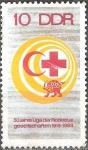 Sellos del Mundo : Europa : Alemania : 50 años de la Liga de Sociedades de la Cruz Roja 1919-1969,DDR.