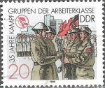 Sellos de Europa - Alemania -  35 años de grupos de combate, traspaso de armas (DDR).