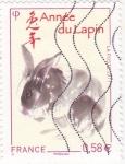 sellos de Europa - Francia -  AÑO DEL CONEJO