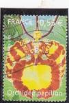 Sellos del Mundo : Europa : Francia : FLORES- ORQUIDEA MARIPOSA
