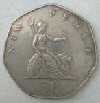 monedas de Europa - Reino Unido -  1976 - new pence