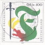 Stamps of the world : Germany :  DRAGON