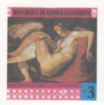 Stamps Equatorial Guinea -  PINTURAS FAMOSAS DESNUDOS-MICHELANGELO