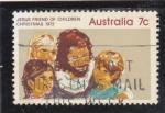 Sellos de Oceania - Australia -  JESUS AMIGO DE LOS NIÑOS