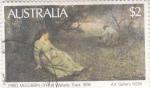 Stamps Australia -  OBRA DE ARTE DE FRED McCUBBIN