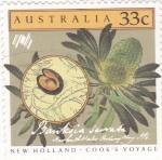 sellos de Oceania - Australia -  FLORES-