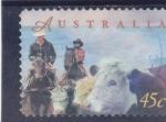 Sellos de Oceania - Australia -  GANADO VACUNO