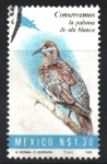Stamps : America : Mexico :  CONSERVEMOS  LA  PALOMA  DE  ALA  BLANCA