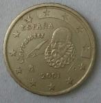 monedas de Europa - España -  2001 - 10 centavos euro