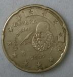 monedas de Europa - España -  2007 - 20 centavos euro