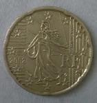 monedas de Europa - Francia -  2002 - 20 centavos euro
