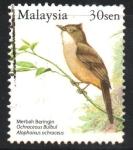 Sellos de Asia - Malasia -  PÁJAROS.  OCHRACEUS  BULBUL.