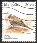 Stamps : Asia : Malaysia :  PÁJAROS.  PALOMA  MANCHADA.