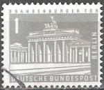 Sellos de Europa - Alemania -  Edificios y monumentos de Berlín. Puerta de Brandenburgo.