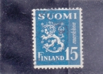 Stamps Finland -  LEÓN RAMPANTE