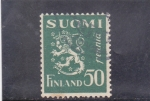 Stamps Finland -  LEÓN RAMPANTE