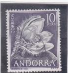 Sellos del Mundo : Europa : Andorra :  FLOR-HELEBORUS CONI