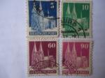Stamps Germany -  Cologne cathedral - Alemani-OcupaciónAliada 1945/53.Serie:Zona Americana y Británica.