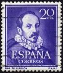Sellos de Europa - España -  INT-LITERATOS-RUIZ DE ALARCÓN