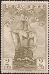 Sellos de Europa - España -  Nao Santa María, vista de proa  1930  2 cents