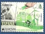 Stamps : Europe : Spain :  Edifil 5055 Europa Piensa en verde A