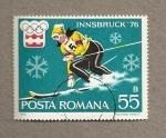 Sellos de America - Rumania -  Olimpiadas invierno Innsbruck 1976