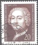 Stamps Germany -  275º nacimiento de Georg W. von Knobelsdorff (arquitecto).