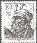 Sellos del Mundo : Europa : Alemania : 500a Aniv de Albrecht Durer.El gaitero.