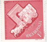 Stamps Hungary -  carreta y monumento