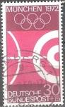 Sellos del Mundo : Europa : Alemania : Juegos Olímpicos de 1972 en Munich.
