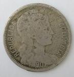 monedas del Mundo : America : Colombia :  1907 p/m venta