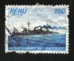 Sellos de America - Perú -  Crucero Almirante Grau