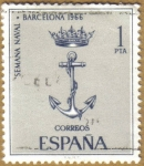 Stamps : Europe : Spain :  Semana Naval en Barcelona