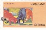 Stamps : Asia : Nagaland :  obra de Franz Marc