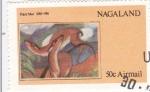 Sellos del Mundo : Asia : Nagaland : obra de Franz Marc