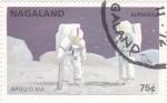 Stamps : Asia : Nagaland :  AERONAUTICA- APOLO XI, HOMBRE EN LA LUNA