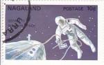 Stamps Nagaland -  AERONAUTICA- GEMINIS IV,ASTRONAUTA EN EL ESPACIO
