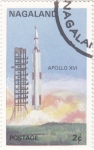 Stamps Nagaland -  AERONAUTICA- APOLO XVI