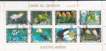 Stamps of the world : United Arab Emirates :  AVES DEL PARAÍSO