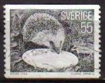 Sellos de Europa - Suecia -  SUECIA Sweden Sverige 1975 Scott 1139 Sello Serie Fauna Erizo Hedgehog Puerco Espin