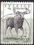 Stamps Sweden -  SUECIA Sweden Sverige 1992 Scott 1934 Sello Serie Fauna Alce